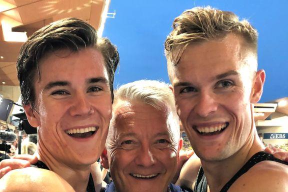 Filip og Jakob hyller pappa: – Vi har verdens beste trener