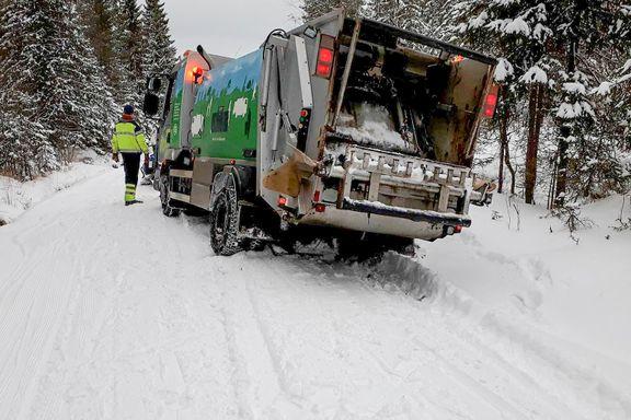 Søppelbil tok snarvei – ødela populær skiløype i Nordmarka