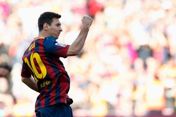 Messi jubilerte med to scoringer mot Betis