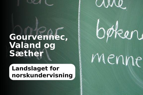 Forslag til endringer i videregående skole kan bli dramatisk for norskfaget
