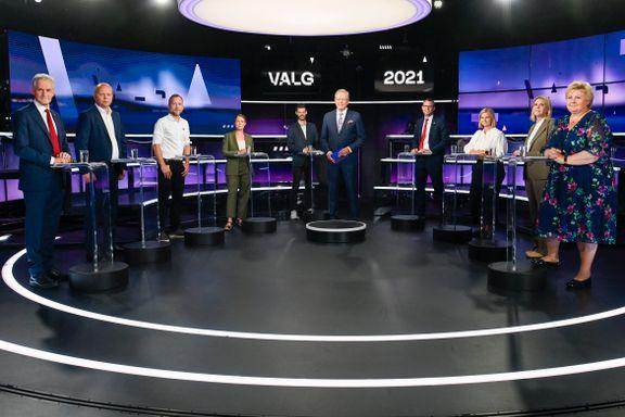 Vinnerne i TV 2s partilederdebatt er alle de som slapp å se på