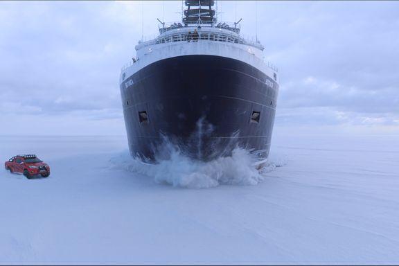 Kappløp med finsk isbryter på Bottenviken ble norsk mesterstykke i spesialeffekter