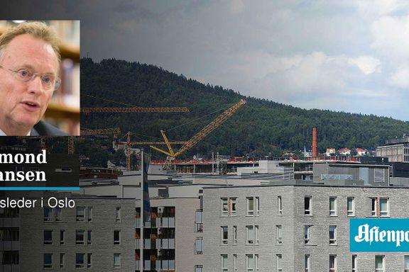 Vi vil bygge byen innenfra – ikke ute i Marka   Raymond Johansen