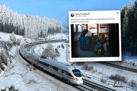 Deutsche Bahn slår tilbake etter Greta Thunbergs togbilde
