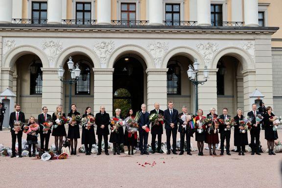 To Utøya-overlevende. En tidligere nestleder i Rød Valgallianse. Dette er de nye statsrådene.