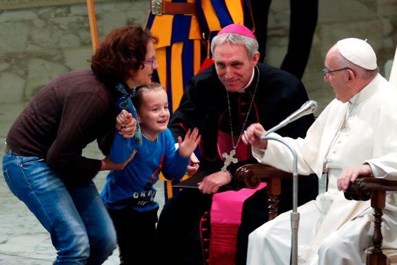 Dagens stjerne i Vatikanet: Gutt unnslapp mamma, moret pave Frans