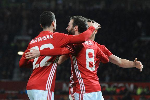 United uten syk Zlatan tok en lett seier på vei mot ligacupfinale