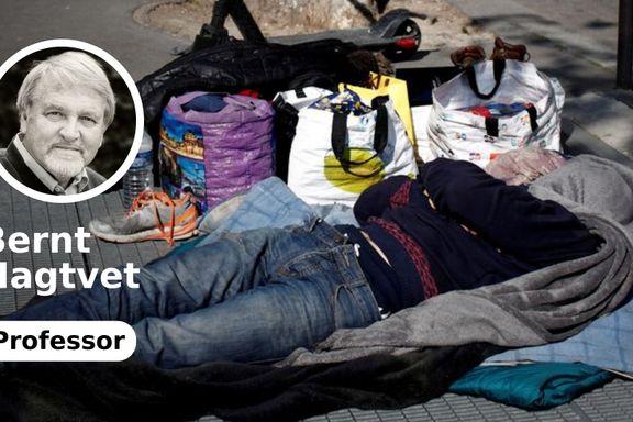 Mens brexitdebatten raser, glemmer britene sine hjemløse