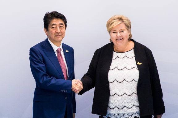 Erna Solberg: Japan ønsker å starte forhandlinger om en frihandelsavtale med Norge