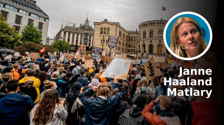 Hvorfor tillot politiet enorme brudd på smittevernreglene? | Janne Haaland Matlary