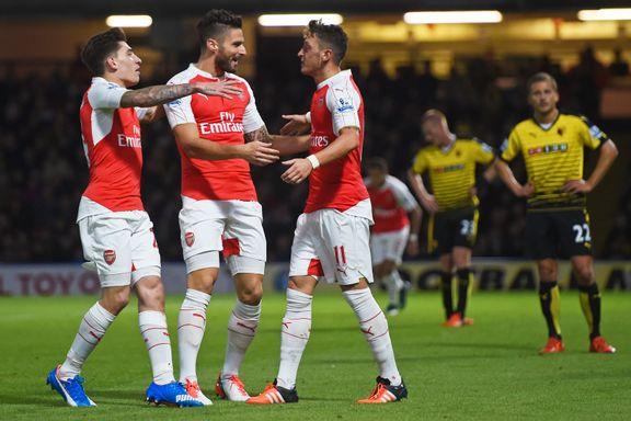 Tredje strake tremålsseier for Arsenal