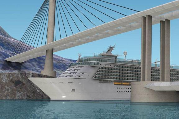 Broen skal kutte reisetiden mellom de to byene med én time – og tåle kollisjon med cruiseskip