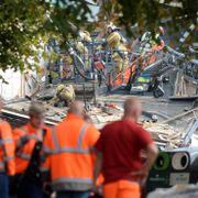 Tre reddet ut etter eksplosjon i Belgia – flere kan ligge under sammenraste hus