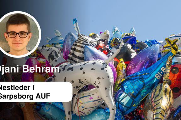 På tide å forby heliumballonger   Djani Behram