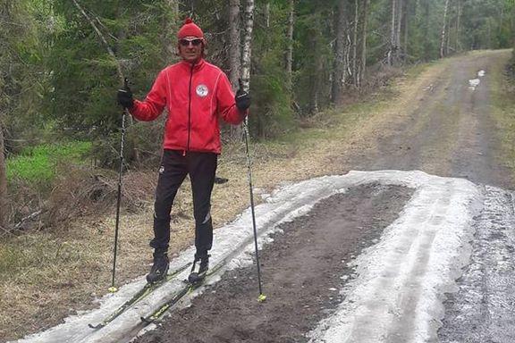 Den siste turen ble på 220 ganger 23 meter. I dag ble det slutt på skisesongen.