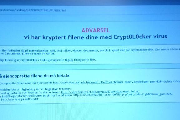 Ble angrepet av datavirus: – Skaden var total. Samtlige dokumenter ble kryptert