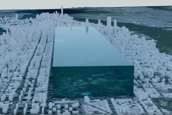 Kjempeisbit i New York illustrerer smeltingen på Grønland. Ny forskning viser hvordan havene påvirkes.