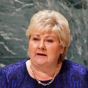 Solberg i FN: Verden står overfor tre kriser