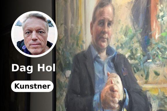 Vebjørn Sand har malt tidenes beste rektorportrett