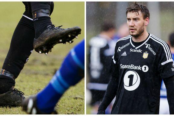 Her spiller Bendtner med konkurrentens sko