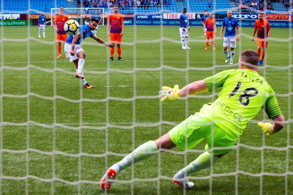 Kjente på nervene da han åpnet målfesten torsdag. Nå vil Etzaz Hussain skyte Molde til Europa - igjen