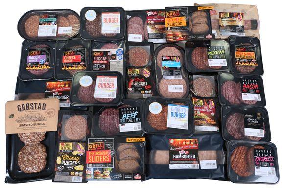 Test av hamburgere: Mer kjøtt enn mange tror