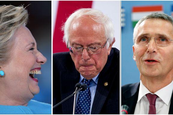 Clinton-støttespiller ville ha med Stoltenberg i kampen mot Sanders