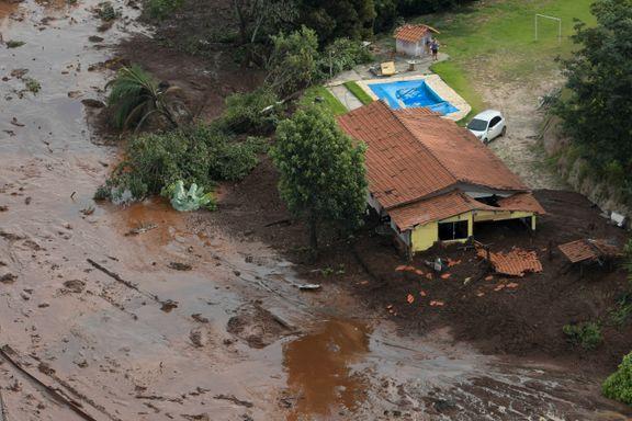 Leter desperat etter 300 savnede i gjørmen i Brasil