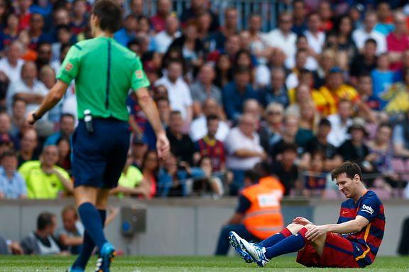 Messi sendt til sykehus med kneskade