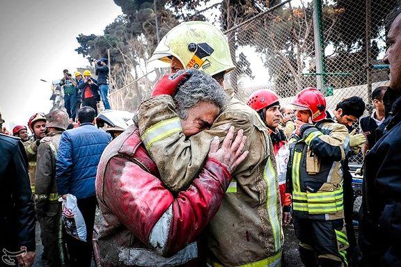 Minst 30 brannmenn døde da høyhus i Teheran kollapset etter brann