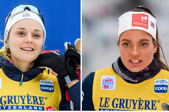 Slik reagerte den svenske sprintstjernen på det norske stortalentets selvsikre beskjed