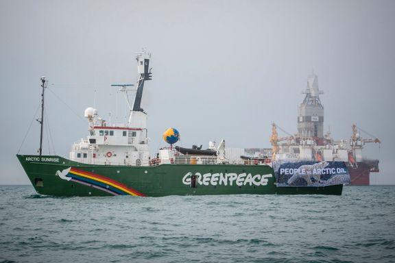 Greenpeace-fartøy tatt i arrest etter aksjon mot Statoil-rigg