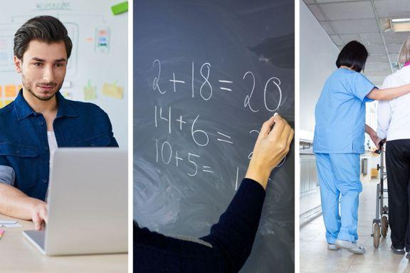 Syv sikre yrker: Velger du disse studiene, er du sikret jobb.