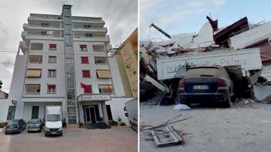 Dette var et åtte etasjers strandhotell i den populære feriebyen. Så kom jordskjelvet.