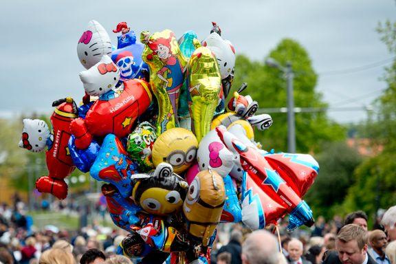 Hele Stortinget vil forby dem – men det blir heliumballonger på 17. mai i år også