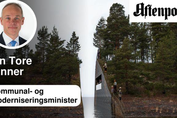 Vi ønsker en åpen prosess om minnestedene etter 22. juli-terroren   Jan Tore Sanner