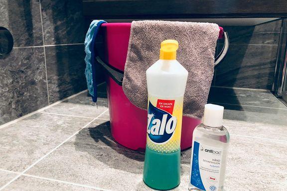 Redd for smitte? Slik vasker du klær og hjem nå.