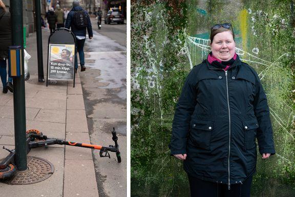 Hun gikk på hodet og ble skadet av en slik. For 130.000 nordmenn er elsparkesykler en alvorlig risiko.