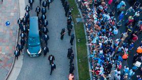 Maradonas likvake utartet i opptøyer