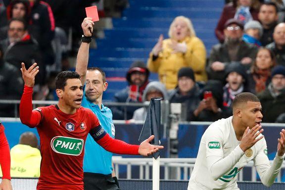 Superstjernen ble utvist da PSG tapte den franske cupfinalen