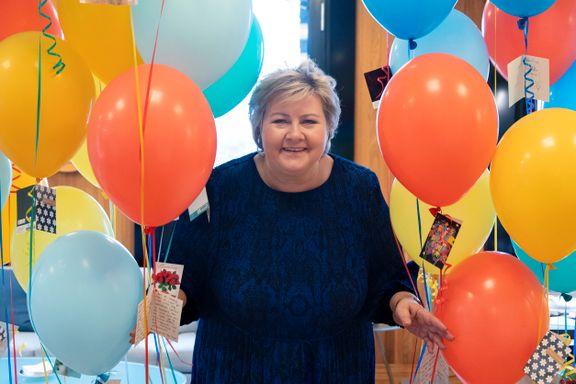 Erna Solberg fikk en 60-årsfeiring hun aldri kommer til å glemme