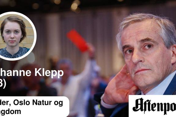 Kjære Arbeiderpartiet – Natur og Ungdom kondolerer   Johanne Klepp