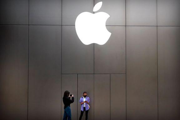 Apples overskudd falt, men omsetningen økte