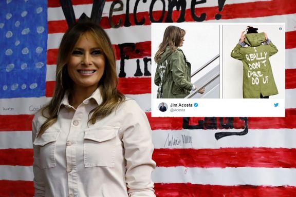 Hevdet at Melania Trumps klesvalg var tilfeldig - så kastet presidenten seg inn i debatten