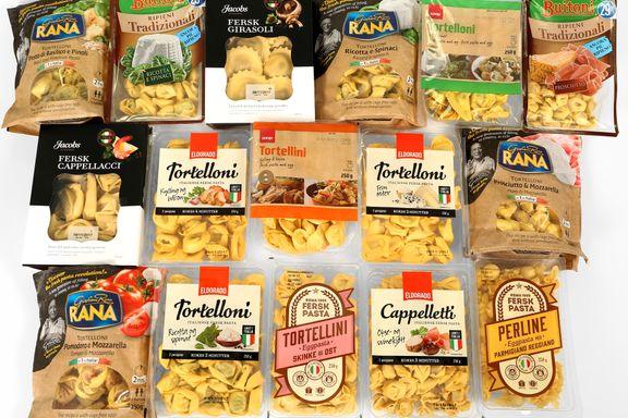 Ernæringstest av fylt pasta: Stor forskjell på saltinnholdet