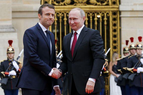 Macron fant tonen med Putin - men gikk til angrep på russiske medier