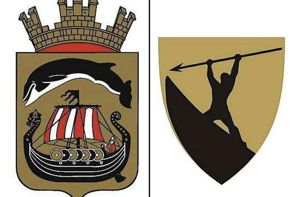 Gjett hvilket kommunevåpen som er nytt og laget for en sammenslått kommune?