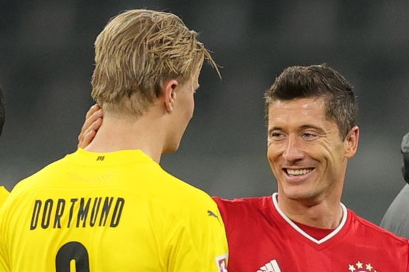 Haaland om rivalen Lewandowski: – Den mannen er «galen»