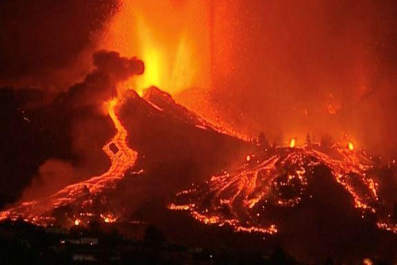 Se de spektakulære bildene: Flere tusen evakuert etter vulkanutbrudd på Kanariøyene