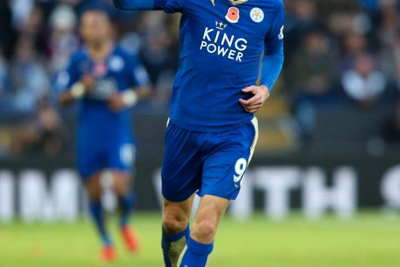 Leicester-spiss Jamie Vardy kan bli historisk i neste kamp
